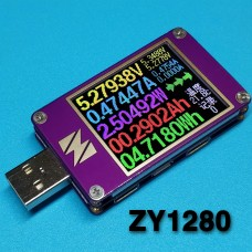 YZXstudio ZY1280 USB Power Monitor Current Voltage Capacity Fast Charge QC4 PD3.0 MFI PPS Test
