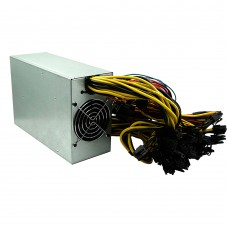 2800W Mining Power Supply Support 12GPU PFC Active High Efficiency Computer Power Supply with Double Fans