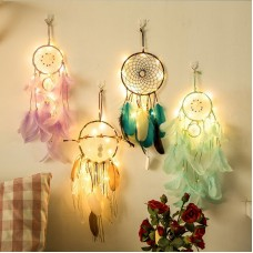 Dream Catcher Light 2M 20LEDs Feather Beads Romantic Dream Catcher Wall Hanging Room Car Home Decor