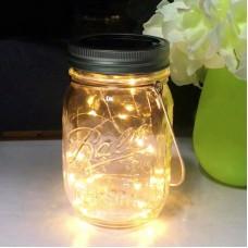 Fairy Light Solar Mason Jar Garden Decor 2M 10LEDs Solar Powered with Lid Handle