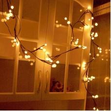 Waterproof Ball String Lights Rattan 2.5M 72 LED Garden Home/Festival Christmas/Wedding Party/Café