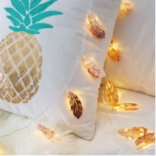 1M/1.5M Feather LED String Light 10LEDs For Bedroom Holiday Wedding Xmas Party Battery Powered Light