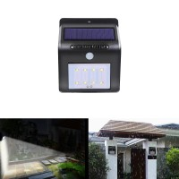18001 8-LED Solar Body Induction Lamp Power Light Wireless Sensor Home Bright