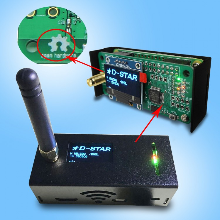 MMDVM Assembled hotspot P25 DMR YSF+Raspberry Pi+OLED+Antenna+SD card+POWER BANK
