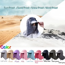 Anti-UV Sun Hat Outdoor Sunscreen Visor Fishing Hat Men Women Summer Protection Face Neck Cover Sport Hiking Caps
