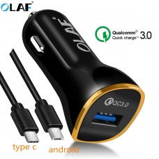 Car Charger USB Quick Charge 3.0 For Mobile Phone Car Charger For Samsung S8 S9 S7 A5 Xiaomi
