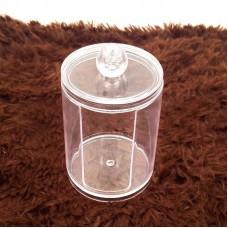 Clear Cotton Swab Holder Transparent Q-Tip Holder Cosmetic Organizer Toothpick Storage Box