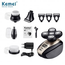 5 in 1 Electric Shaver Men Blade Head Razor Clipper Nose Hair Trimmer Face Care Shaving Rechargeable