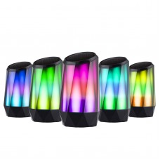 Crystal Bluetooth Speaker LED Light Wireless Speaker HD Sound Built-in Mic AUX Home Outdoor