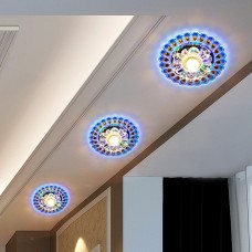 Colorful Ceiling Lamp Crystal Ceiling Lights LED Balcony Aisle Corridor Entrance Hall Ceiling Lamp