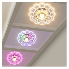 LED Colorful Ceiling Lamp Crystal Ceiling Lights Balcony Aisle Corridor Entrance Hall Ceiling Lamp