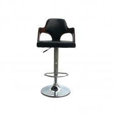 PU Leather Bar Stool Kitchen Chair Swivel Bar Stool with Gas Lift Chrome Footrest