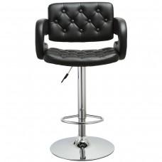 PU Leather Swivel Bar Stools Hydraulic Pub Chair Adjustable Height Swivel Bar Stool