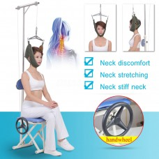 Steel Foldable Protable Neck Cervical Traction Stretcher Brace Pain Relief Chair