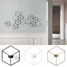 Nordic Style 3D Geometric Candle Holder Metal Wall Candle Holder Sconce Home Décor