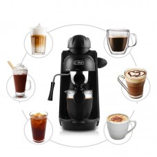 Steam Coffee Maker Espresso Cappuccino Coffee Maker Milk Frothing 4 Cups