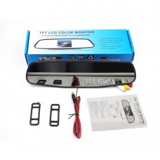 "HD 5"" Inch Car Mirror Monitor High Resolution 2CH Video Input 800*480 DC 12V~24V Car Parking Monitor"