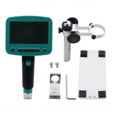 800x USB Digital Microscope Portable 4.3Inches HD LCD Display with Stand For PCB Repair