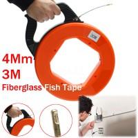 30M Fiberglass Fish Tape Reel Puller Conduit Ducting Rodder Pulling Wire Fish Tape