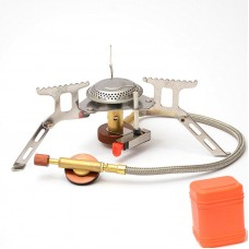 Portable 3500W Folding Gas Stove Burner For Outdoor Picnic Camping Mini Steel Stove + Case