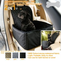 Waterproof Pet Seat Cover Dog Bag Carrier Travel Bag For Dog Puppy Cats Front Seat Cover
