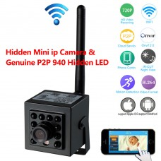 P2P Mini IP Camera w/Genuine 940nm Invisible LED ONVIF2.0 for Network Record Free App & CMS Software