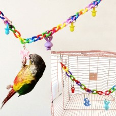 Colorful Bird Parrot Swing Toys For Parakeet Cockatiel Budgie Lovebird