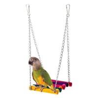 Pet Bird Parrot Swing Toy Parakeet Budgie Cockatiel Cage Hammock Hanging Toy