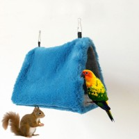 Triangle Bird Hammock Hamster Squirrel Bird Nest House Hut Hammock Premium Rabbit Fabric Material