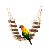 Natural Rope Ladder Bird Swing Toy Bird Toy For Parrots