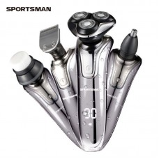 Electric Shaver Bead and Mustache Trimmer Set Hair Cut Clipper Kit Nose Groomer Facial Cleaning