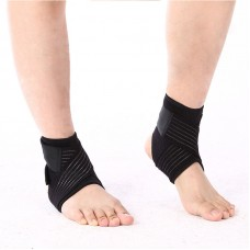 Breathable Elastic Ankle Brace Protector Adjustable Bandage Ankle Support Pad Football Basketball