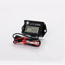Resettable Digital Tach Hour Metter Waterproof Tachometer MAX RPM LCD Display