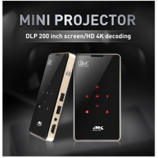 4K 3D Full HD Smart DLP Mini Projector LED Android WiFi 1080P Home Theater HDMI (S905X 1+8G)