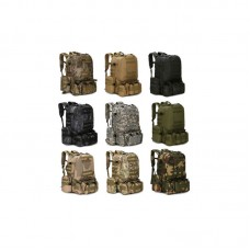 55L Molle Outdoor Military Tactical Backpack Bag Camping Hiking Trekking Backpack