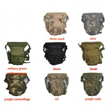 Outdoor Tactical Military Drop Leg Bag Panel Utility Waist Belt Pouch Bag Travel Outdoor Sports