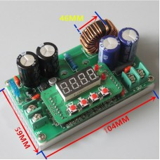 Adjustable 400W CC CV DC-DC Step Down Converter Power Supply Module LCD Driver + Cooling Fan