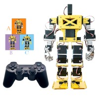 17DOF Biped Robot Humanoid Anthropomorphic Combat Battle Robot Height 38cm for DIY Robotics Assembled