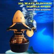 Diving Sea Scooter 300W Waterproof Pro Electric Waterproof Dual Speed SafetyProp/6kmh
