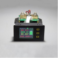 0-120V 0-300A DC Digital Volmeter Ammeter Multimeter Voltage Ampere Power Watt Coulomb Capacity Time Temp