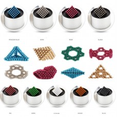 216PCS 3MM Magnet Ball Magic Bead Neodymium Sphere Creative Puzzle DIY With Box