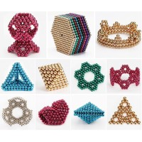 5MM 216PCS Magnet Ball Magic Magnetic Ball Sphere Colorful 3D DIY Puzzle Ball
