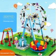 Friends Amusement Park 447pcs 3 Figures Assemble Playground Set Building Block Set