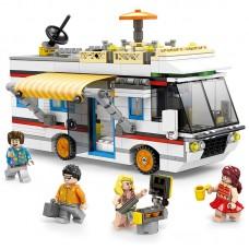 3 In 1 Vacation Getaways Children's Toy Camper Yacht Summer Home 662pcs Blocks