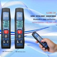 Laser Distance Meter iLDM-30 Bluetooth 4.0 Handheld Pen-Shaped Laser Distance Meter 30 Meters