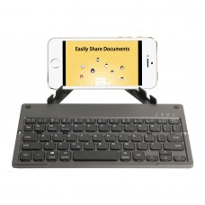 Foldable Keyboard Wireless Bluetooth Keyboard Rechargeable With Holder For IOS/Android/PC