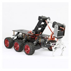 6WD Search and Rescue Platform Smart Car Chassis Shock Off-road Climbing for Arduino Raspberry Pie WIFI Car System