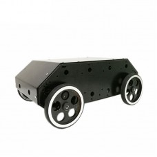 Enclosed 4wd Smart RC Car with Stainless Steel Frame 95mm Metal Wheel High Power Motor for Arduino DIY RC Toy