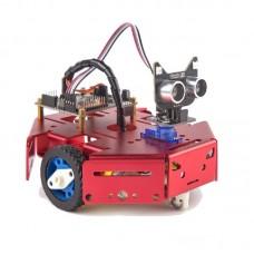 Arduino Programmable Robot Kit DIY STEM Toy Scratch 3.0 & Python Program Robotics & Electronics Red