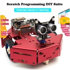 Arduino Programmable Robot Kit DIY STEM Toy Scratch 3.0 & Python Program Robotics & Electronics Black